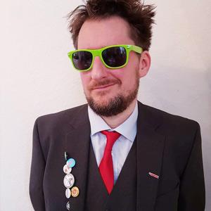 PARTEI-Aktivist Gordon Strahl