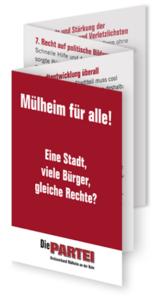 Flyer Dioe PARTEI Mülheim, Städtecharta für Menschenrechte