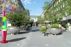 Grüne Schloßstraße, Die PARTEI